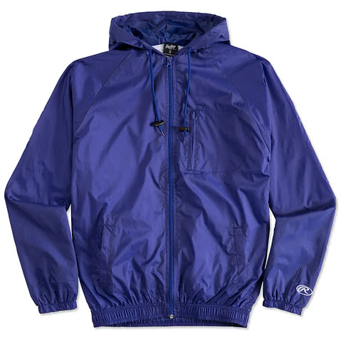 Rawlings Lined Full Zip Hooded Jacket