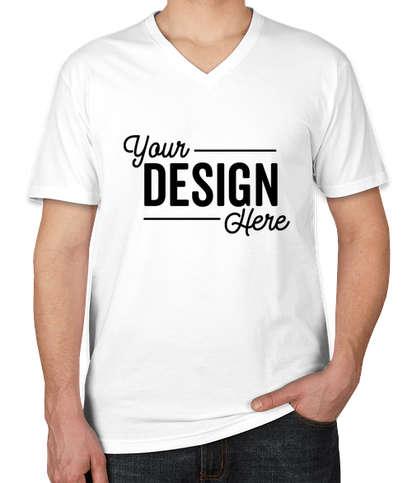 Next Level Jersey Blend V-Neck T-shirt - White