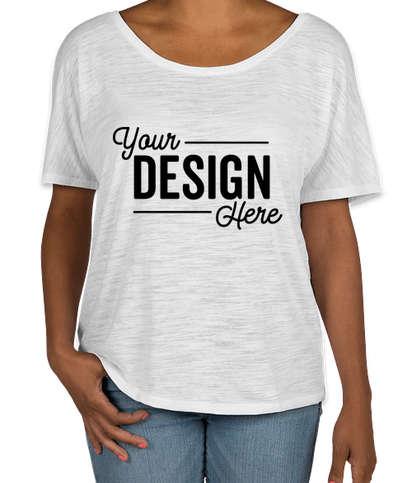 Bella + Canvas Women's Flowy Slub T-shirt - White Slub