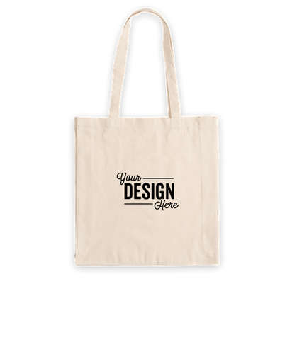 Tall Gusseted 100% Cotton Shopper Tote Bag - Natural