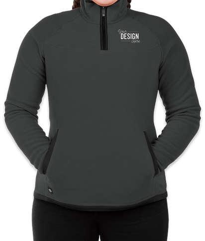 Stormtech Women's Shasta Quarter Zip Fleece Pullover - Graphite / Black