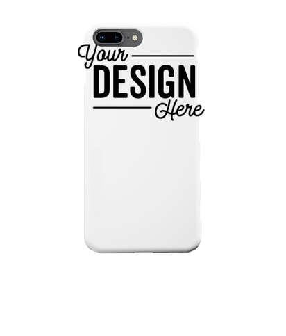 Full Color iPhone 8+ Slim Phone Case - White