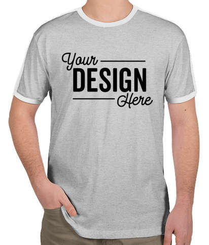 LAT Retro Ringer T-shirt - Heather / White