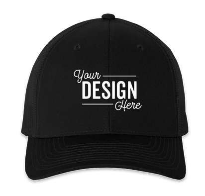Richardson Snapback Trucker Hat - Black