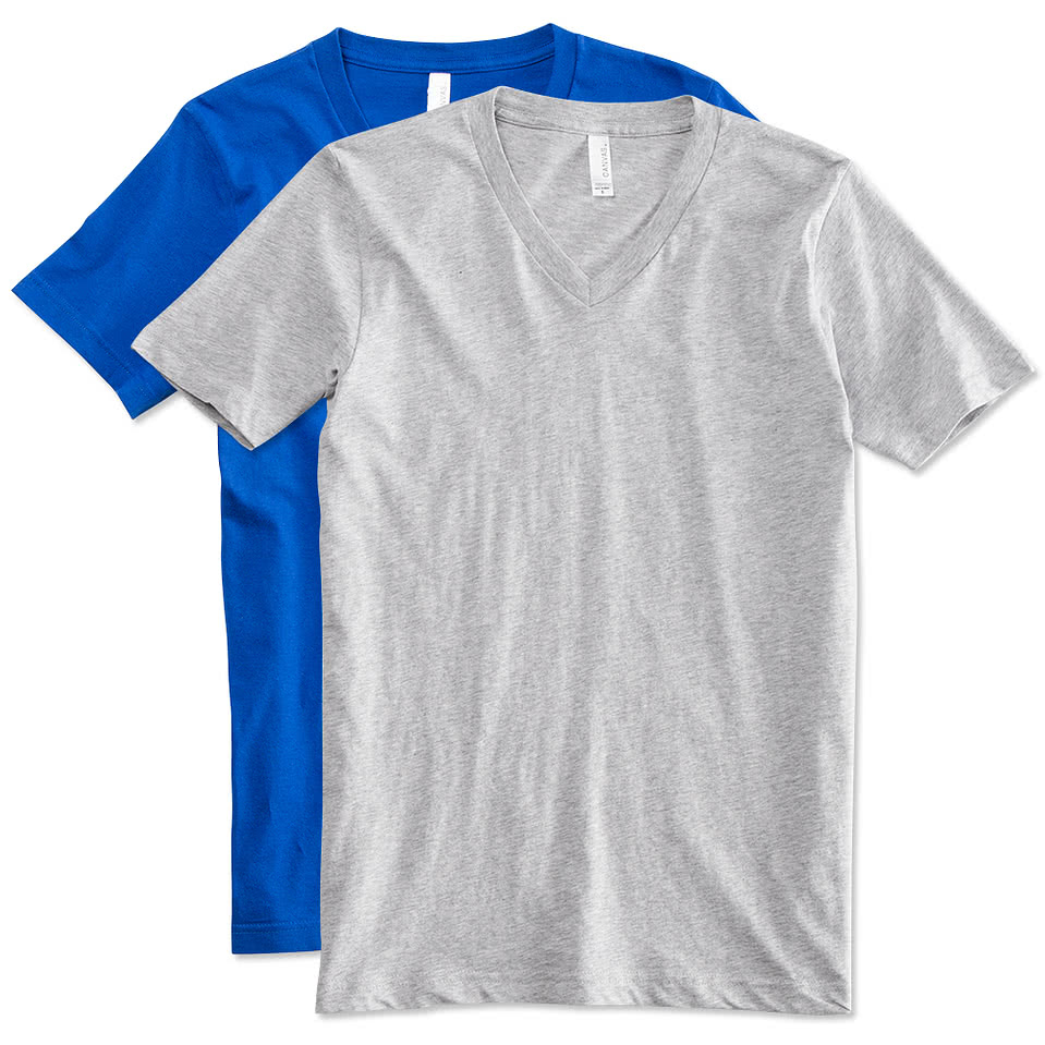 Custom canada canvas jersey v neck t shirt design t for Made t shirts online