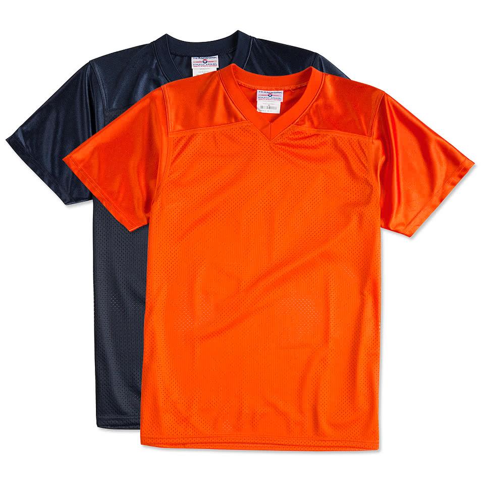Custom teamwork overtime replica jersey design footballs for Custom football jersey shirts