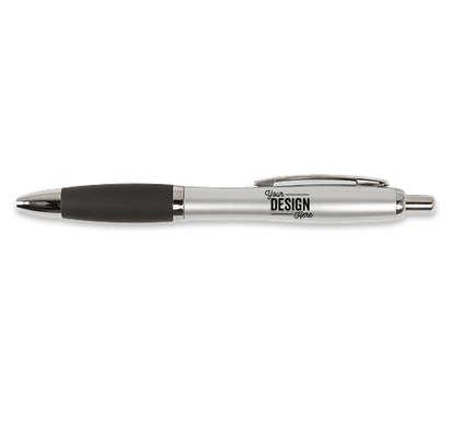 Nash Two Tone Pen (black ink) - Silver / Black