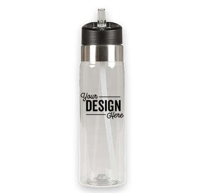 20 oz. Flip Straw Tritan Sport Water Bottle - Clear