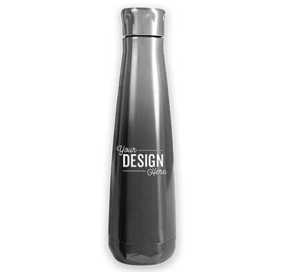 16 oz. Svelte Stainless Steel Ombre Insulated Water Bottle - Smoke Ombre