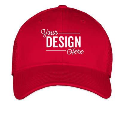 New Era 39THIRTY Stretch Fit Mesh Hat - Scarlet Red