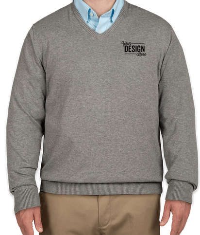 Port Authority V-Neck Sweater - Medium Heather Grey