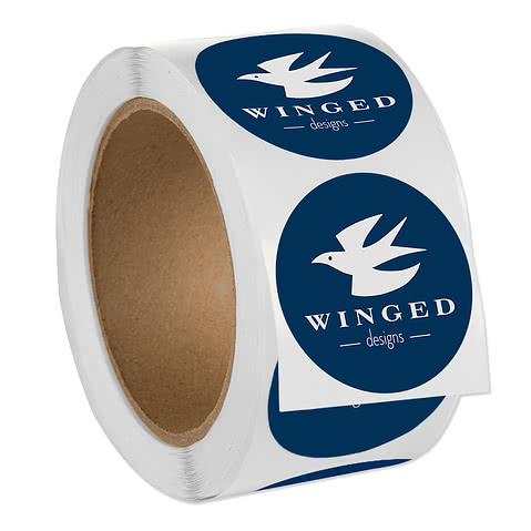 Full Color 2 in. Circle Roll Labels (500 per roll)