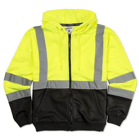 ML Kishigo Class 3 Hi-Vis Hooded Full Zip Sweatshirt