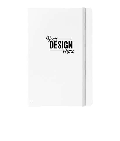 JournalBooks ® Debossed Ambassador Hard Cover Notebook - White
