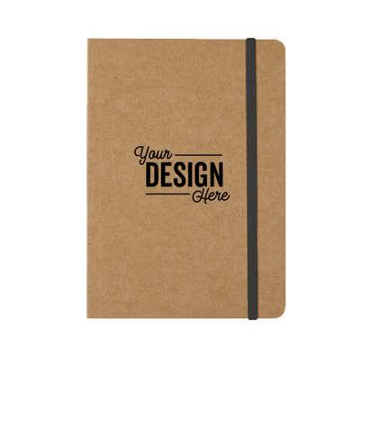 Eco-Inspired Strap Notebook - Natural / Black