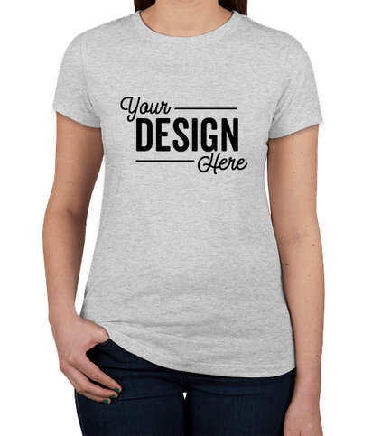 Next Level Women's Slim Fit Tri-Blend T-shirt - Heather White