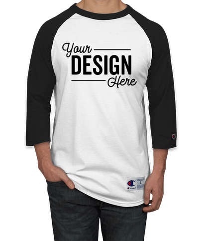 Champion Raglan T-shirt - White / Black