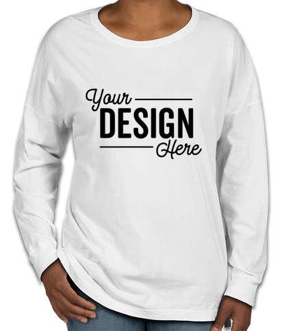 Comfort Colors Women's Drop Shoulder Long Sleeve T-Shirt - White