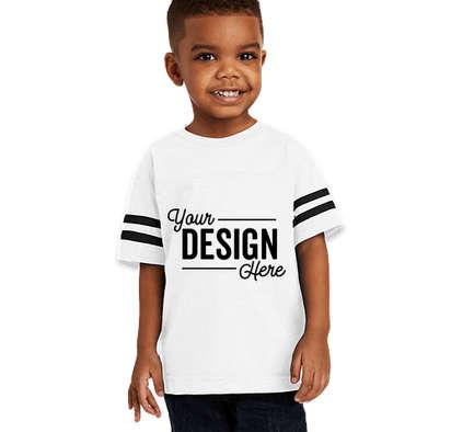 Rabbit Skins Toddler Varsity T-shirt - White / Black