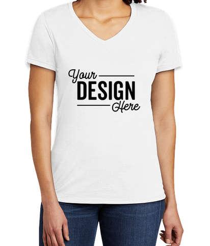 Allmade Women's Tri-Blend V-Neck T-shirt - Fairly White