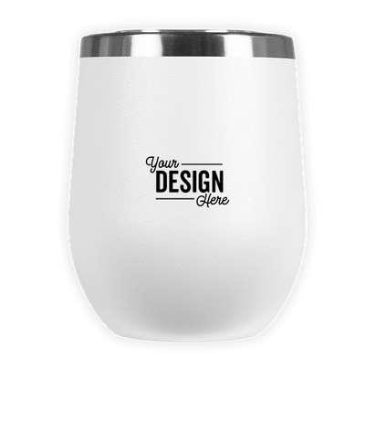 Laser Engraved 12 oz. Insulated Tumbler Gift Set - White