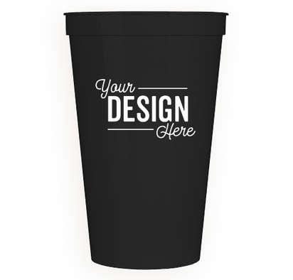 22 oz. Plastic Stadium Cup - Black