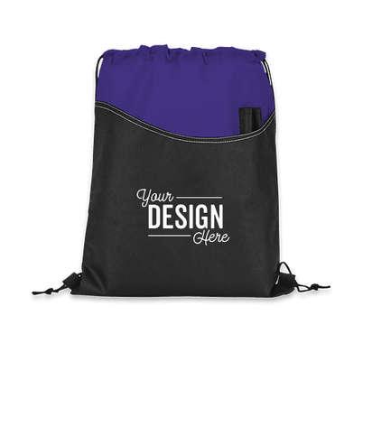 Rivers Non-Woven Drawstring Bag - Purple