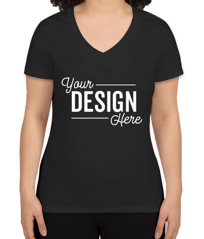 Hanes Women's X-Temp V-Neck T-shirt - Black