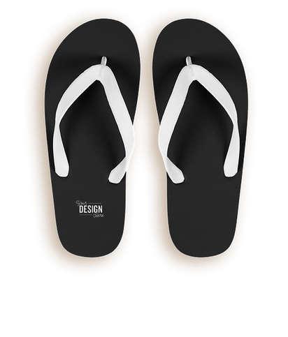 Bora Bora Color Block Flip Flops - Black / White