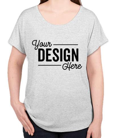 Next Level Women's Tri-Blend Dolman T-shirt - Heather White