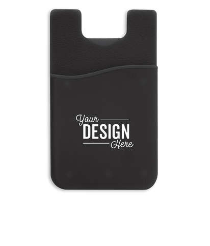 Silicone Stick-On Phone Wallet - Black