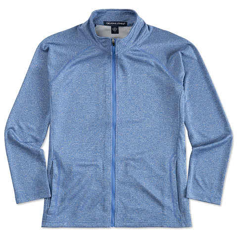 Devon & Jones Women's Heather Performance Full Zip