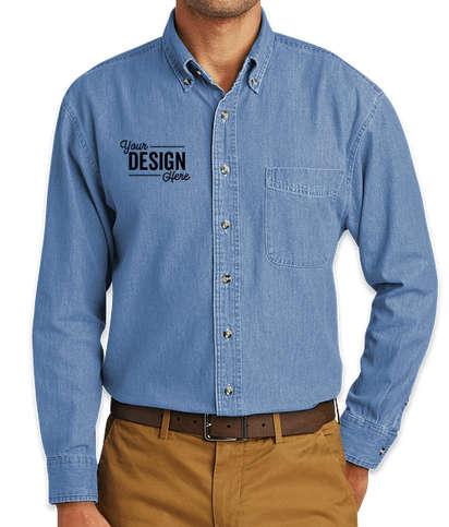 Port & Company Denim Shirt - Faded Blue