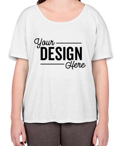 Bella + Canvas Women's Flowy T-shirt - White