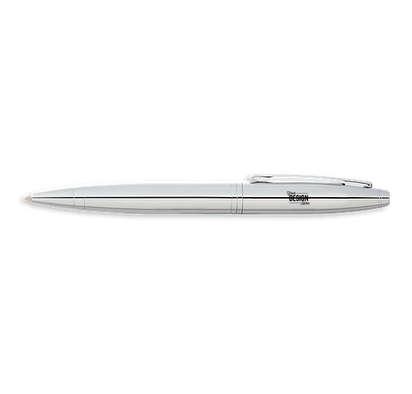 Laser Engraved Cross Calais Chrome Ballpoint Pen (black ink) - Silver