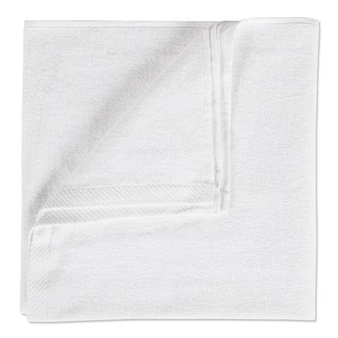 Lightweight White Screenprinted Beach Towel