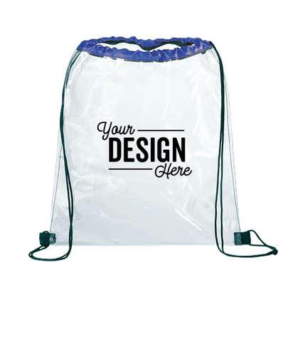Rally Clear Drawstring Bag - Royal