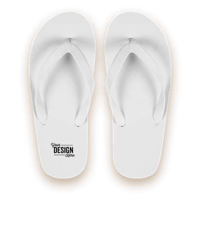 Classic Solid Flip Flops - White