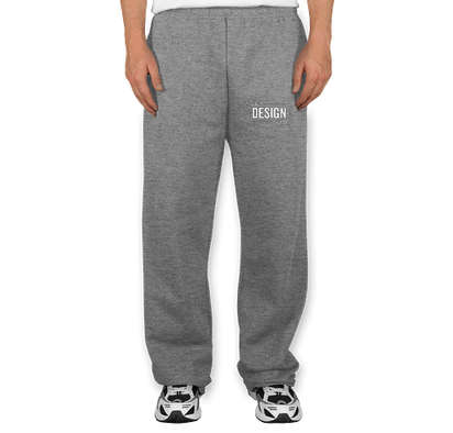 Jerzees Open Bottom Sweatpants - Oxford