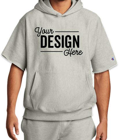 Champion Reverse Weave Short Sleeve Pullover Hoodie - Oxford Grey