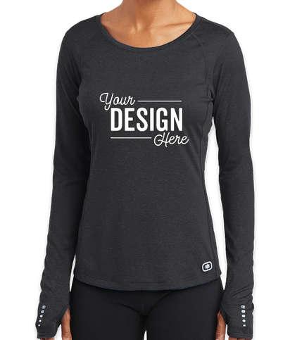 OGIO Women's Endurance Pulse Long Sleeve Performance Shirt - Blacktop