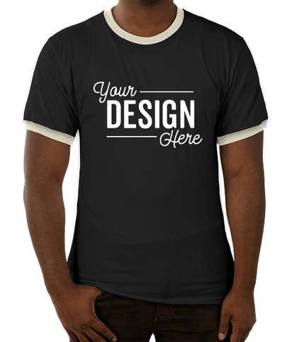 Canada - Champion Premium Fashion Ringer T-shirt - Black / Chalk White