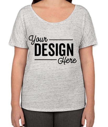 Bella + Canvas Women's Flowy Melange T-shirt - White Marble