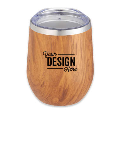 12 oz. Wood Look Copper Vacuum Insulated Wine Tumbler - Wood