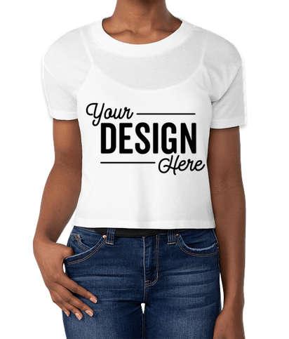 Alternative Apparel Women's 50/50 Crop T-shirt - White