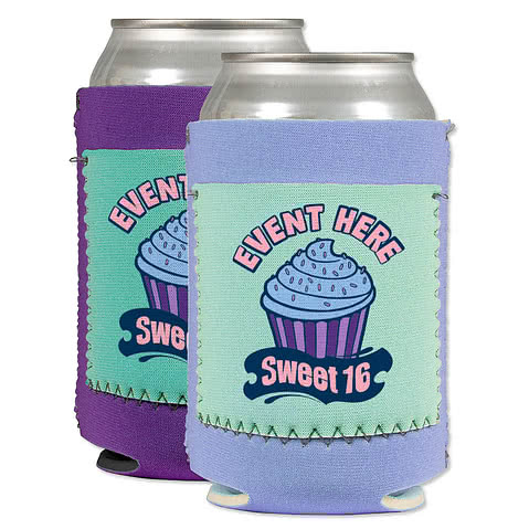 Neoprene Can Cooler with Pocket