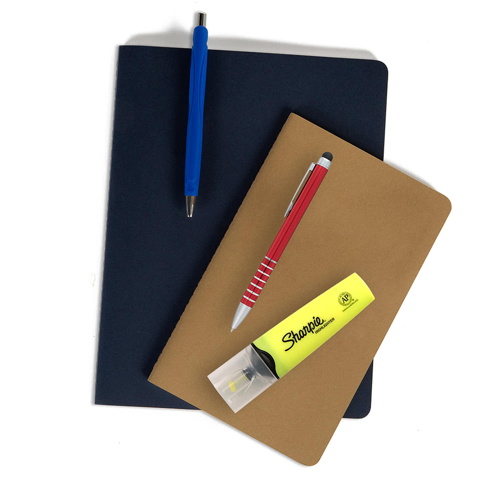 Print Your Company Logo On Notebooks Padfolios Sticky Notes Mouse Pads Design Online