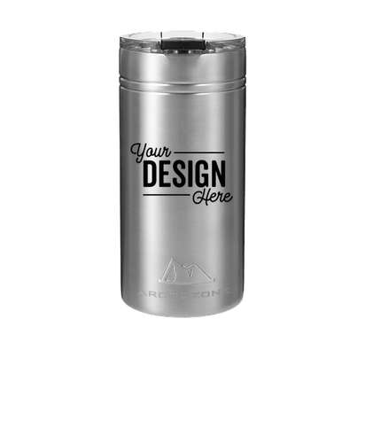 Arctic Zone 12 oz. Titan Thermal HP Stainless Steel Slim Can Insulator - Silver