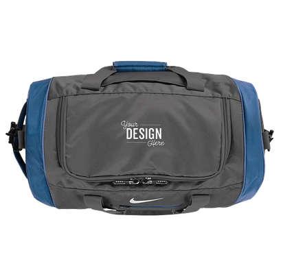 Nike Medium Duffel Bag - Dark Grey / Military Blue