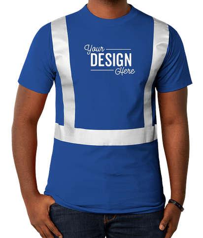 Bayside USA-Made Reflective 100% Cotton T-shirt - Royal